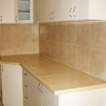 Resurfaced Formica Cabinets