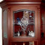 Wood Display Cabinet Glass Door