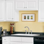 Thermofoil Kitchen With Black Counter