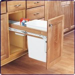 Roll-out Trash Can Attached to Cabinet Door