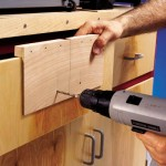 cabinet handle home-made jig