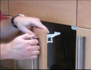 Installing Safety Latch on Kitchen Cabinet Door