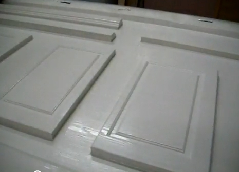 Vacuum Pressed Vinyl Cabinet Door