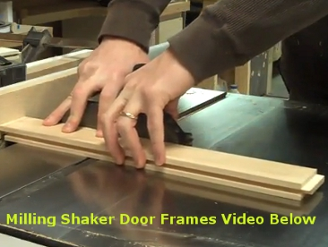 Making Shaker Cabinet Door Frames